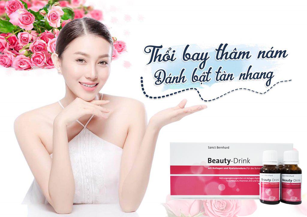 Bổ sung Collagen Beauty Drink giúp đẹp da, mờ nám